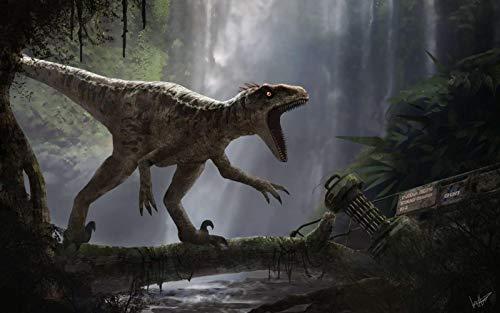 Dinosaurio ágil del hambre - Niños Adultos Puzzle 500 Piezas Madera Toys Diy Juego Puzzle