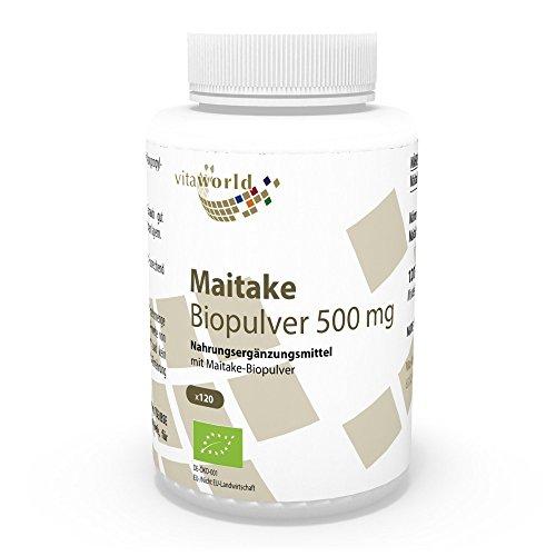 Vita World Maitake Pulver Bio Qualität 500mg 120 Kapseln Apotheken Herstellung