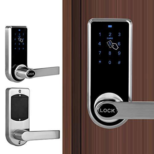 Cerradura de puerta inteligente, sistema de seguridad de tarjeta de contraseña sin llave con pantalla táctil electrónica para el departamento de oficina en casa
