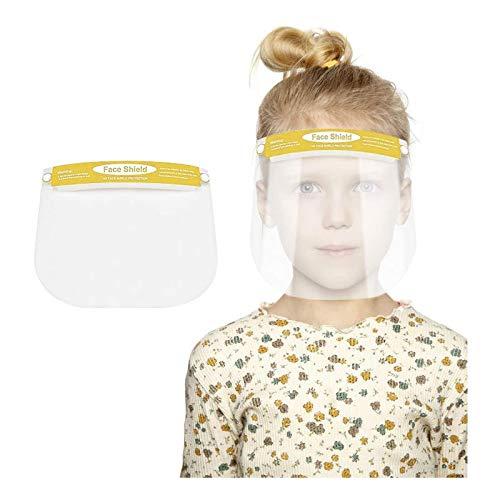 Escudo protector de cara completa para niños visera transparente de plástico con banda elástica