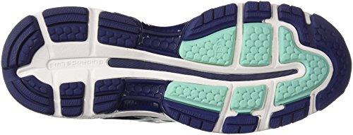 ASICS Women's Gel-Nimbus 20 Running Shoe, indigo blue/indigo blue/opal green, 7 Medium US 7