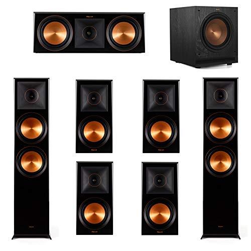 Cheapest Price! Klipsch 7.1.2 Piano Black System-2 RP-8060FA,1 RP-600C,4 RP-600M,1 SPL-100