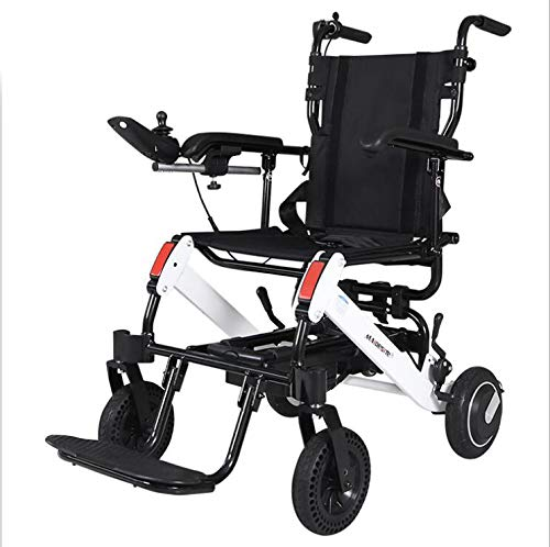 Amazing Deal DSVBNM Electric Wheelchair Deck Automatic Intelligent Aluminum Disabled Elderly Scooter...