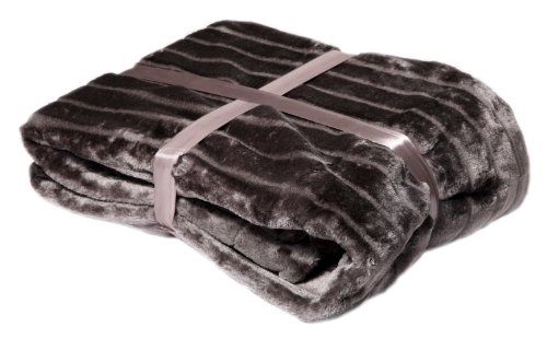 Viva Blanket 220 x 220 cm Mink Look / Available in Various Colours 150 x 200 cm grey by Viva