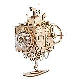 ROBOTIME Submarine Music Box Kits de modelos para adultos Rompecabezas de madera cortado con láser Juguetes de rompecabezas 3D Kit de construcción de artesanía en madera