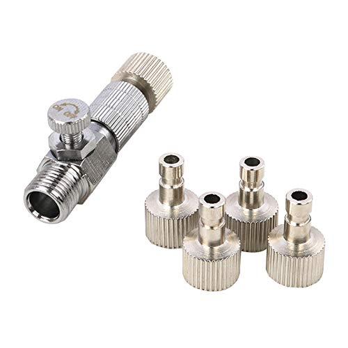 osmanthus Adaptador de Manguera de Aire y Accesorio de conexión para compresor, Accesorios de Herramientas de pulverización Resistentes y duraderos de latón