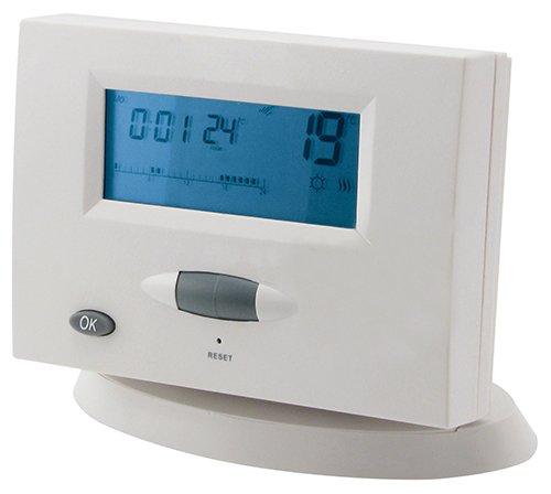 MKC MK722 Cronotermostato Digitale Settimanale con Trasmissione Wireless in RF, Bianco, 433.92Mhz