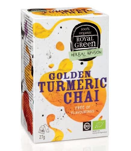 Infusión orgánica de cúrcuma, canela y regaliz Royal Green - 1 x 16 bolsitas de té (27 gramos)