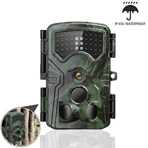 GordVE Wildkamera, 13MP 1080P Falle mit Infrarot-Nachtsicht Bewegungserkennung Wildlife Jagdkamera 0,2 S Triggergeschwindigkeit Wasserdicht IP54