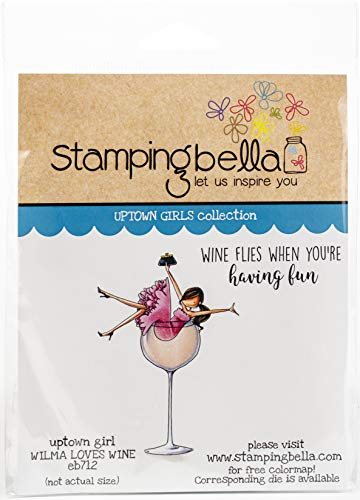 Stamping Bella Cling Stamps-Uptown Girl Wilma Loves Wine, Blue