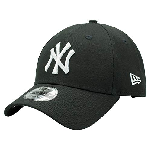 New Era 9Forty Unisex Damen Herren MLB League Essential 940 Adjustable CapStrapback Cap Baseball Cap, 1 NY Schwarz 3116, OSFM