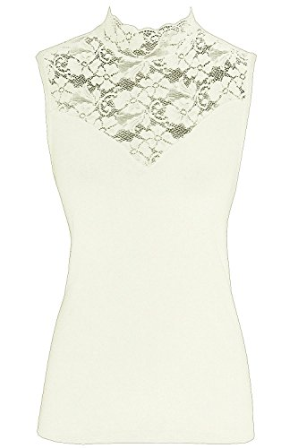 Nina von C. Fine Cotton Blazershirt mit Spitze Top Shirt (38, champagner)
