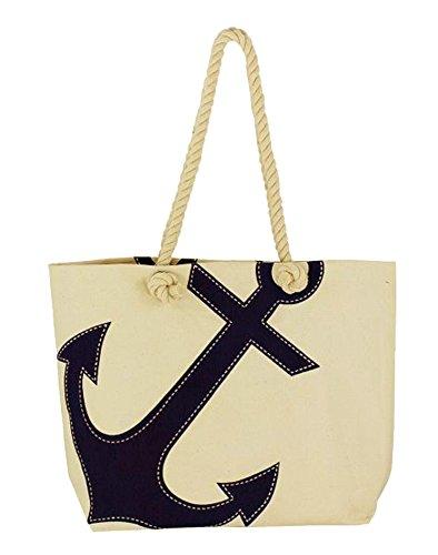 wattkiste Maritimer Shopping-Bag mit Ankerdruck