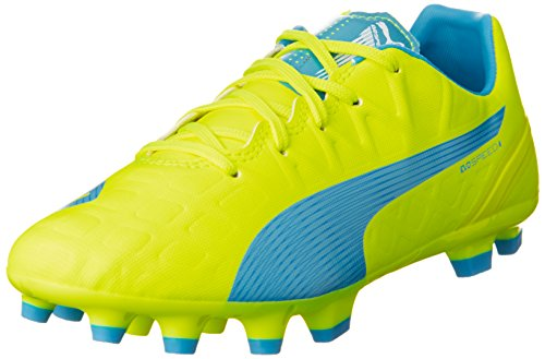 PUMA Unisex-Kinder Evospeed 4.4 AG Jr Fußballschuhe, Gelb (Safety Yellow-Atomic Blue-White 04), 38 EU