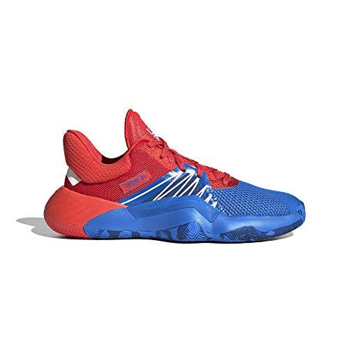 adidas Performance D.O.N. Issue 1 - Zapatillas de baloncesto para niños, color azul y rojo, 4,5 UK - 37 1/3 EU - 5 US