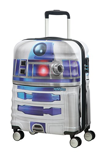 American tourister - Disney Wavebreaker Star Wars R2D2, Maleta Spinner 55/20, 55 cm, 36 L, 3.3 KG Multicolour (Star R2d2)