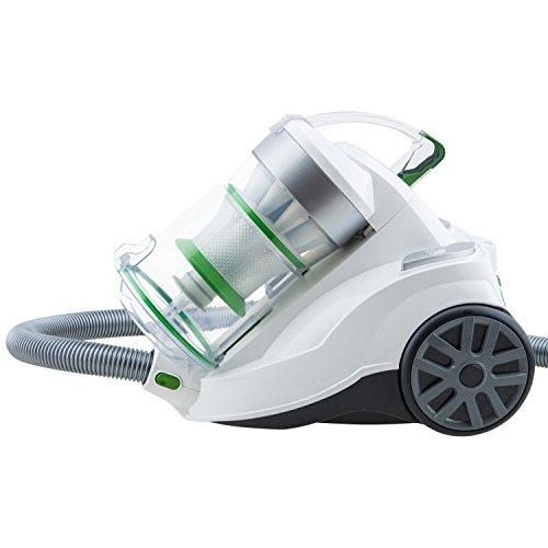 H.Koenig Aspiradora sin Bolsa Potente, Capacidad 2 L, Filtro HEPA, Clase Energética A, Tecnología Silenciosa 75 dB AXO900, 2 litros, Plástico y Aluminio