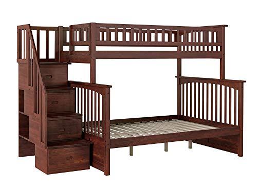 Big Sale Atlantic Furniture Columbia Wood Staircase Bunk Bed -