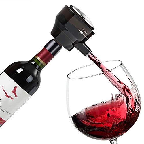 SRMTS Decantador de Vino,OxidacióN Completa y DecantacióN RáPida,Decantador Dos En uno para Vino y Cerveza,Alimentado por BateríA, 94 * 64 * 75 Mm,Accesorios de Vino