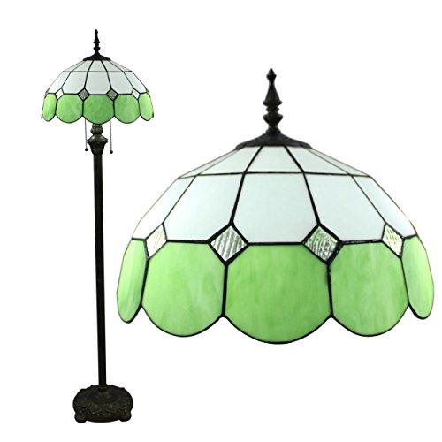 Gweat Tiffany 16-Zoll-Mittelmeer europäische Hirtenart-eleganten Luxus kreative Handarbeit Glasmalerei Tiffany Stehlampe - Grün