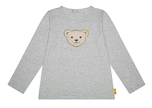 Steiff Longsleeve Camiseta, Color Gris, 98 cm para Niñas