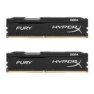HyperX HX426C16FB2K2/16 Fury Schwarz Arbeitsspeicher, DDR4 16GB (Kit 2x8GB), 2666MHz, CL16, DIMM XMP