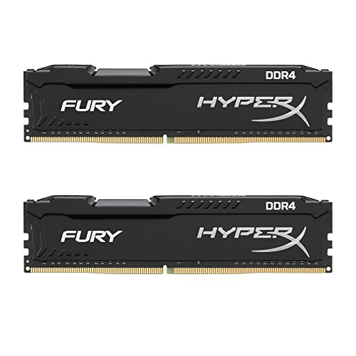 HyperX FURY HX426C16FB2K2/16 DDR4 16 GB (Kit 2 x 8 GB), 2666 MHz CL16 DIMM XMP, Nero