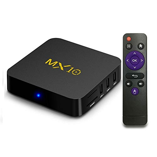 Timmery MX10 Android 9.0 tv Box 4G 32GB Smart TV Box RK3328 Quad-Core 64bit Cortex-A53 64G Penta-Core Mali-450 Up to 750Mhz+ Full HD/H.265 / Dual WiFi