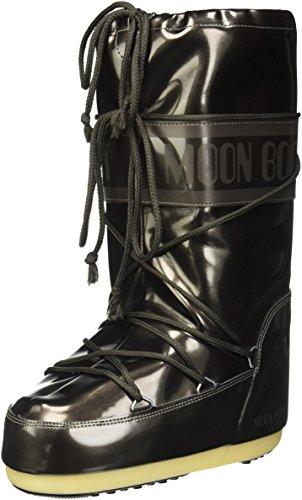 Moon-boot Vinil Met, Stivali da Neve Unisex-Adulto, Nero (Nero 001), 35 EU
