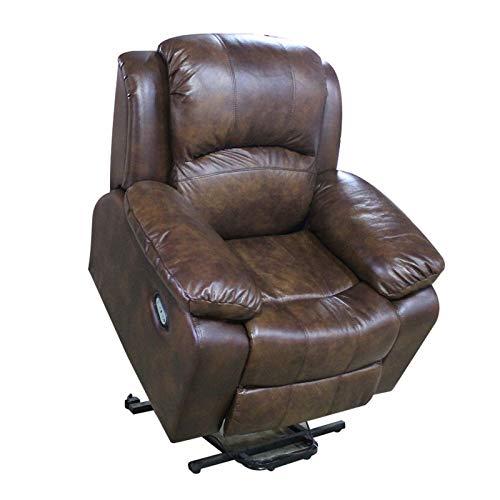 WSN Elektrischer Liegestuhl Lazy Boy Sofa für ältere Menschen, Mobil Riser und Recliner Mobility Riser Stuhl mit Heizmassage Vibration, USB-Aufladung, Speicherfunktion