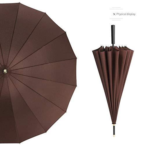 WENSISTAR Winddichte Versterkte Paraplu, Rechte lange handgreep paraplu, verhoging winddichte paraplu, mannen business paraplu, Windproof Travel Paraplu Compact
