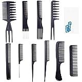 Kare & Kind Ensemble de peignes de coiffure 10x - Plusieurs styles de peignes pour tous les types de cheveux - Soins capillaires pour la maison, le salon et les voyages - Le coiffage, le toilettage