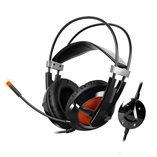 Auriculares de juegos electrónicos portátiles Xbox One Gaming Auriculares con 7 colores Respiración LED Luz, con micrófono LED LED Cancelación de ruido Sobre Oreja PS4 Auriculares con micrófono de can