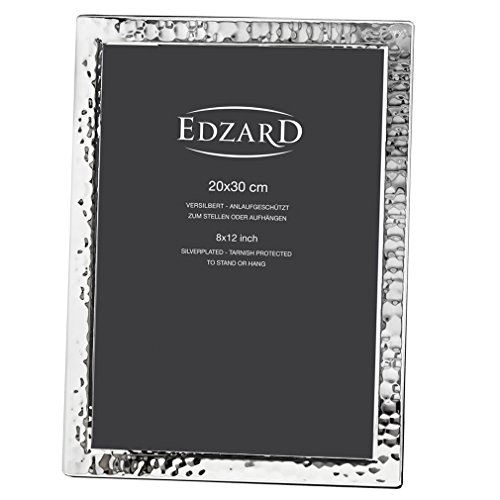 Edzard Portaretratos/Marco de Fotos Pavia para Fotos 20 x 30 cm, Plateado, Protegido contra el deslustre
