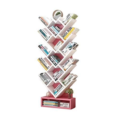 FABAX Bücherregal Einfaches Bücherregal Racks Einfacher Moderne Wohnzimmer Storage Rack Schlafzimmer Kinderzimmer Bücherregal Boden...