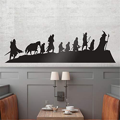 adesivo murale bambini albero Skyline Il signore degli anelli per soggiorno camera da letto