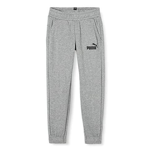 PUMA Essentials Logo B, Pantaloni Tuta Bambini, Grigio (Medium Grey Heather), 104