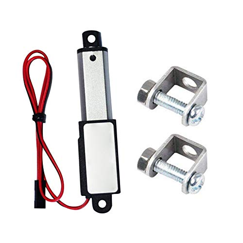 Micro actuador lineal eléctrico a prueba de agua mini servo lineal con soportes de montaje 12v 60n longitud de carrera de 15 mm 30 mm Velocidad