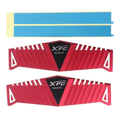siwetg 1Set RAM Heatsink Radiator Koeler Koeling Warmte Spoelbak voor Desktop Geheugen DDR2 DDR3 DDR4 Warmteafvoer Pad