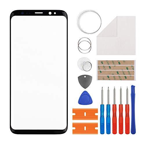 Duotipa Vetro di ricambio per display in vetro frontale compatibile con Samsung Galaxy S8 SM-G950FD SM-G950W 5.8 pollici + attrezzi (senza display e digitalizzatore touch