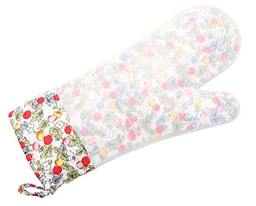 Dbtxwd Gants de four à micro-ondes silicagel Double couche d'isolant à l'intérieur de la couche Plus coton cuisson gants facile à un prolapsus (pack de 2) , 2