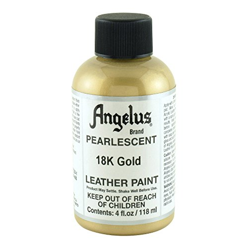 Angelus Leather Paint 4 Oz Pearl 18K Gold