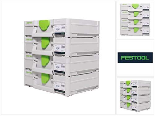 Festool Systainer Set 4x SYS3 M 112 (4x 204840) 7,7 Liter 396x296x112mm Werkzeugkoffer koppelbar