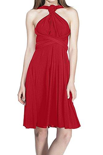 Fymnsi Damen-Kleid, wandelbar, vielseitig verwendbar, für Cocktailpartys, Abschlussbälle -  Rot -  Groß