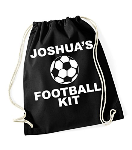 Personalisierbare Fußballausrüstung, mit Namen-, schwarz - schwarz - Größe: One Size