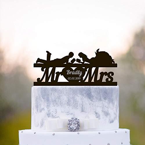 Book lover wedding cake topper,Book wedding cake topper,book cake topper,book lovers cake topper,book worm topper,Mr mrs cake topper,a217