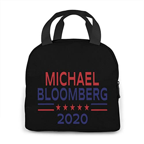 Michael Bloomberg President 2020 Campaign Portable Insulated Lunch Bag Waterproof Tote Bento Bag Lunch Tote