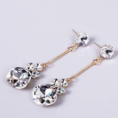 Empty oorbellen van zirkonia, voor dames met strass-steentjes en geometrische kristallen
