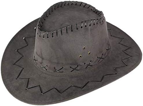 Bokeley West Cowboy Hat Cowboy Hat Unisex Adult Mongolian Hat Sunshade Cap Fedora Outdoor Wide product image