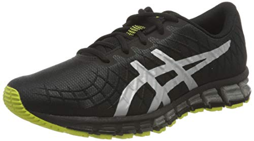 Asics Gel-Quantum 180 4, Running Shoe Homme, Black/Pure Silver, 43.5 EU